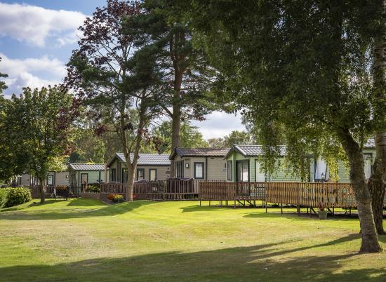 Holiday homes overlooking the golf course at Pearl Lake