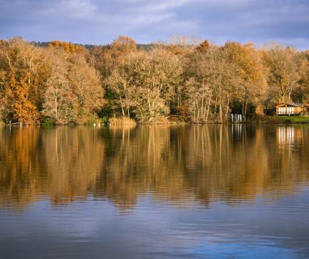 Autumn across Pearl Lake photo