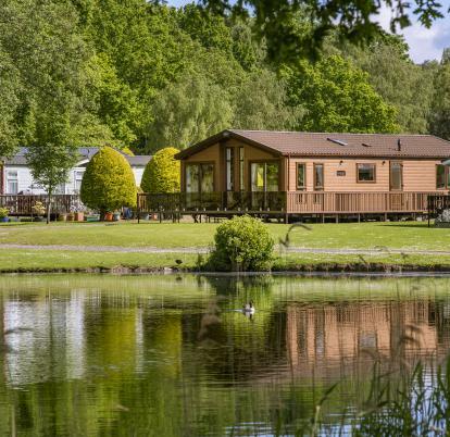 Lake edge luxury lodges at Pearl Lake photo