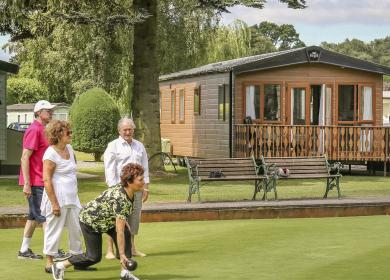 Crown bowls at 5 star caravan site