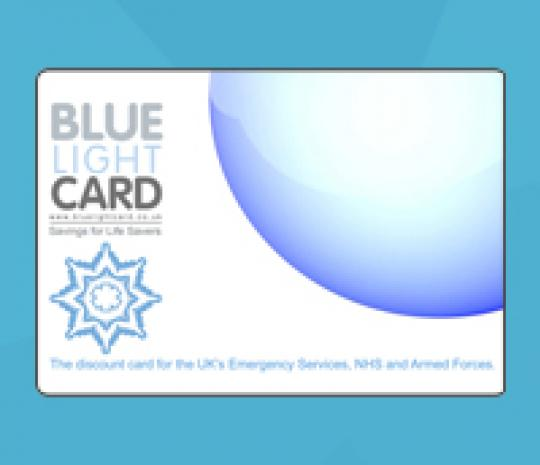 Blue Light card discount scheme image