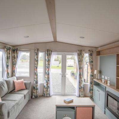ABI Roecliffe for sale at Arrow Bank 5 star holiday park, Herefordshire. Living area